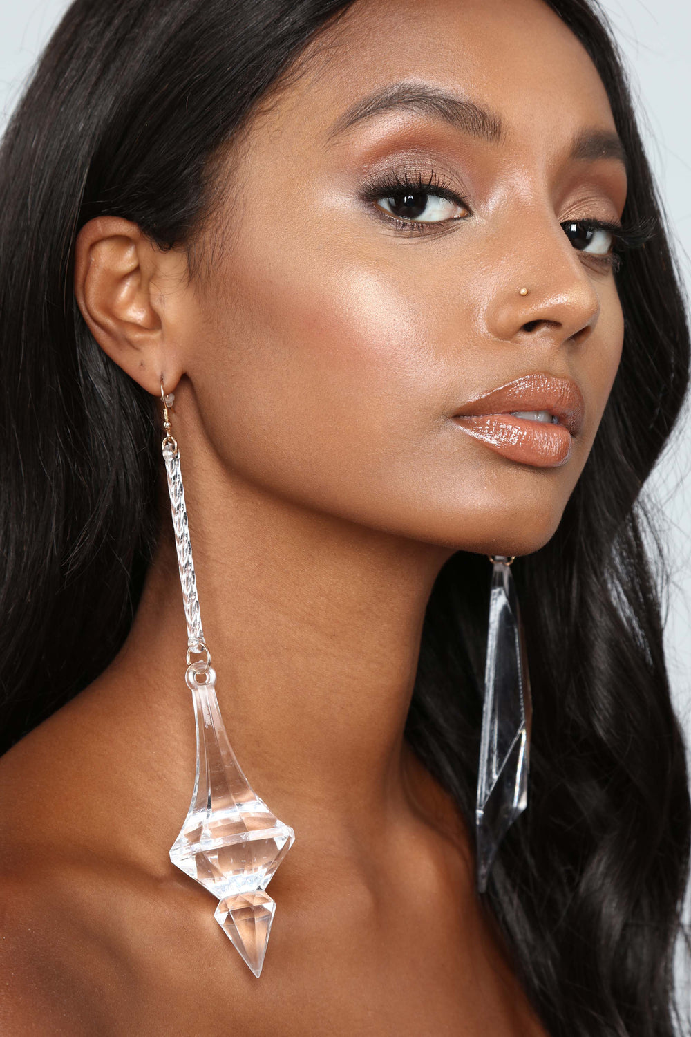 This Lucite Is Better Earrings - Clear