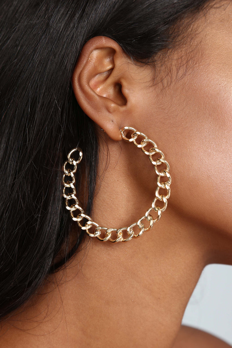 Did You Get The Link Earrings - Gold
