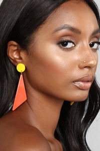 Look At Me Different Earrings - Yellow/Orange