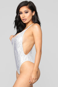 Standout Metallica Swimsuit - Silver