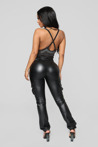 Tell Me About It Stud Bodysuit - Black