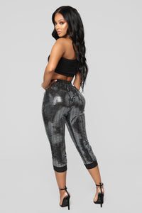 Shine Like The Sun Joggers - Gun Metal