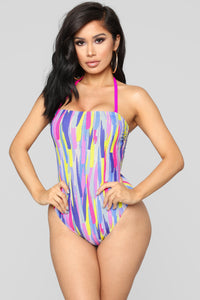 Mixed Drinks Mixed Feelings Swimsuit - MultiColor