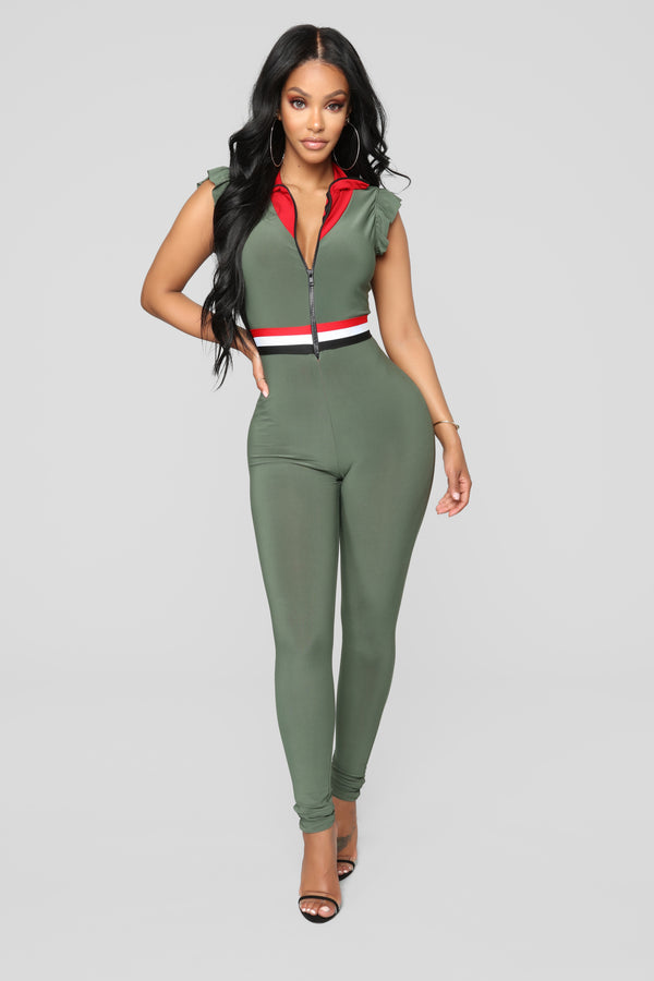 1f58fb3958c Change The Game Jumpsuit - Olive Multi