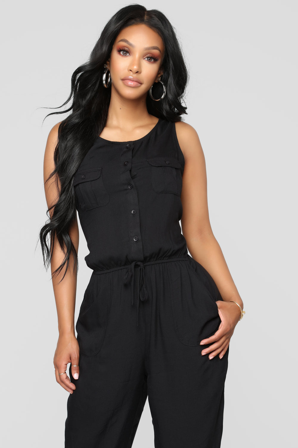 Rivalry Utility Jumpsuit - Black