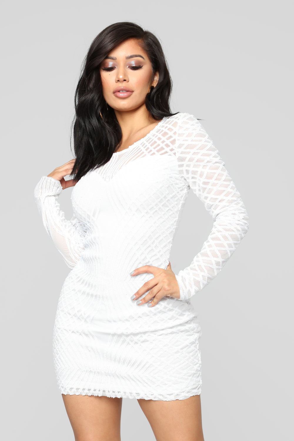 Upgraded You Mini Dress - White