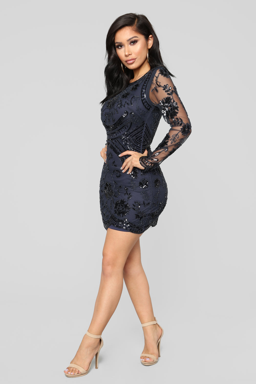 No Promises Mini Dress - Navy