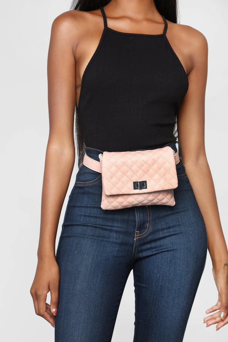 Quilt While You're Ahead Fanny Pack - Blush