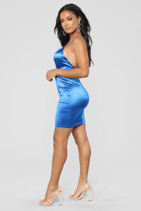 Light The Block Dress - Sapphire