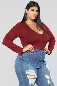 Voted Most Popular Bodysuit - Burgundy Angle 20