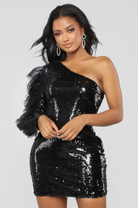 Always A Diva Sequin Dress - Black Angle 1