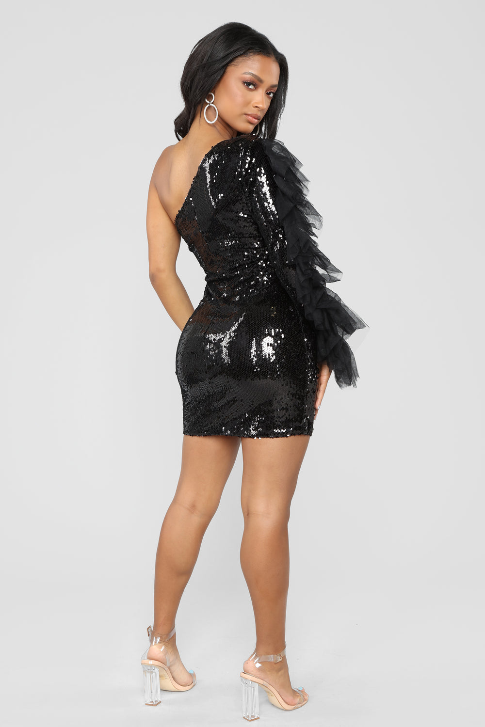 Always A Diva Sequin Dress - Black