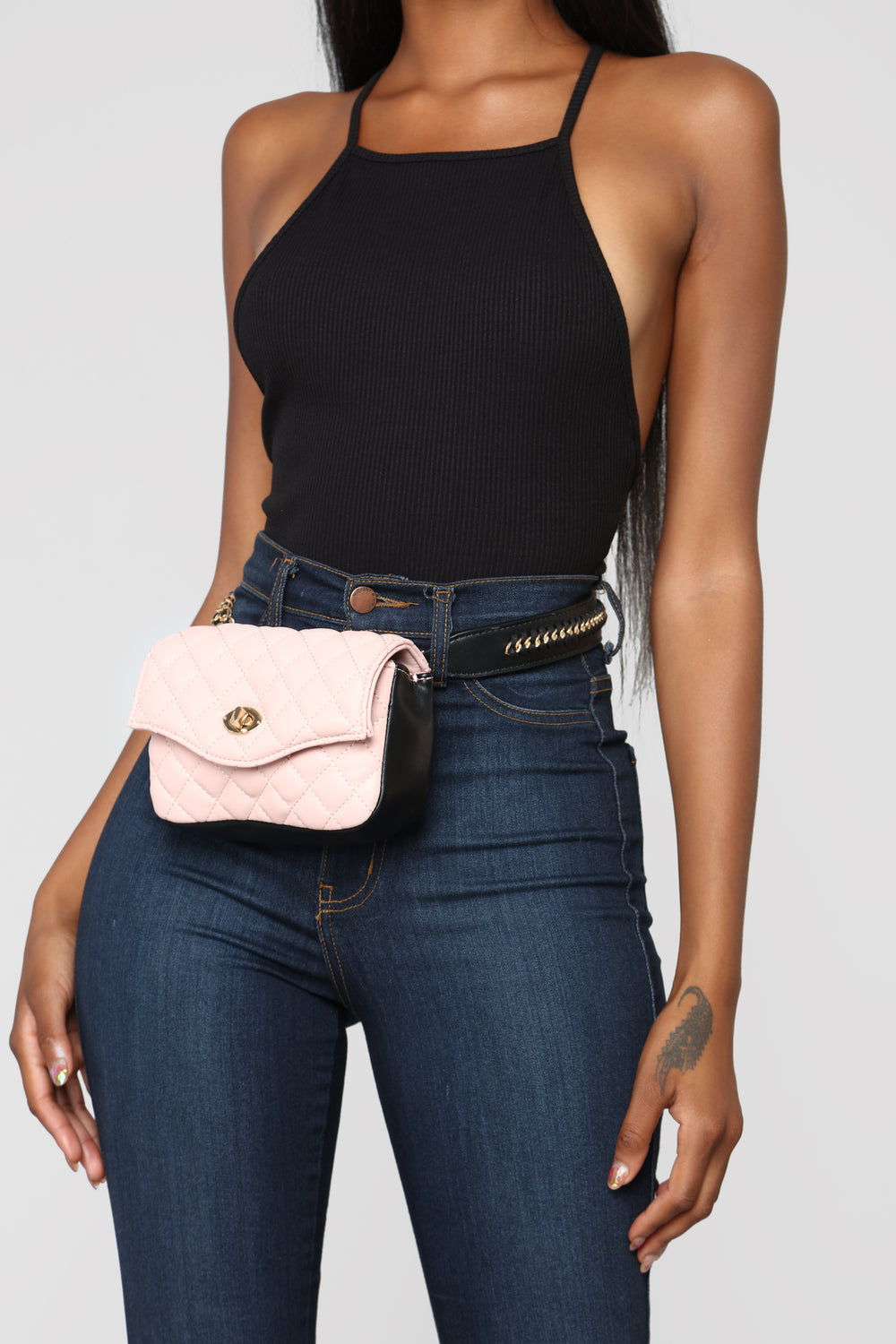 Chantelle Quilted Fanny Pack - Blush
