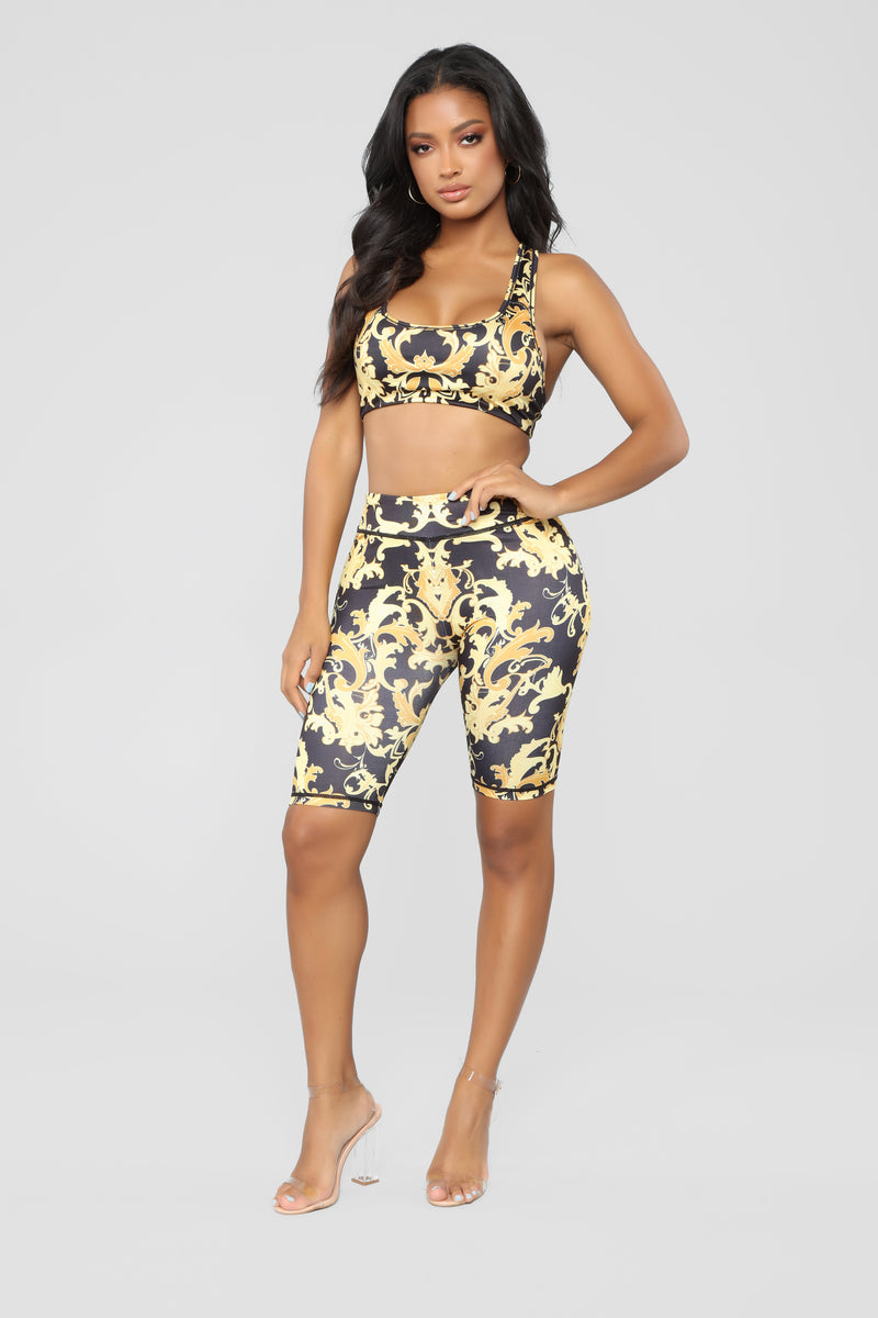 Lilli Lounge Set - Black/Yellow