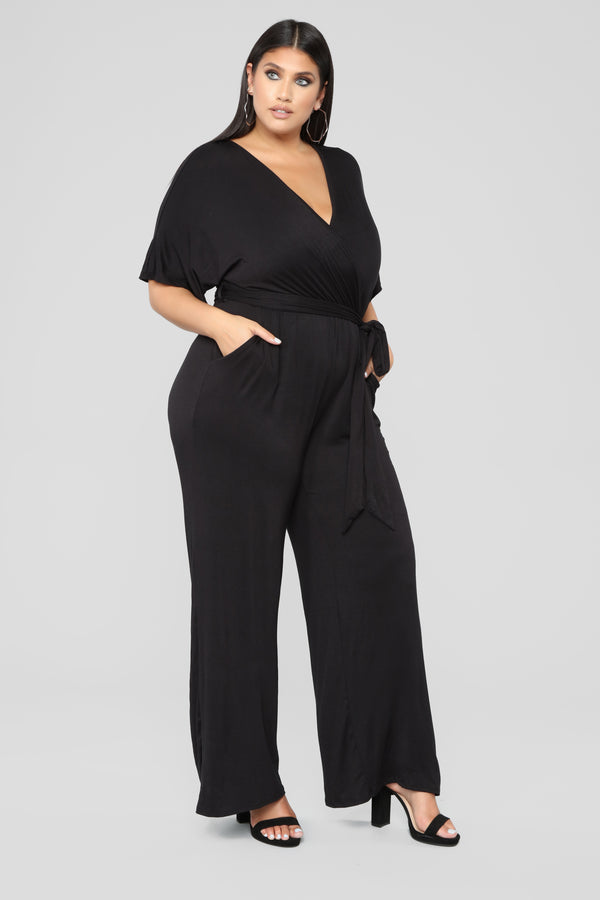 dbf38f0ddada Knot Even Thinking About You Jumpsuit - Black