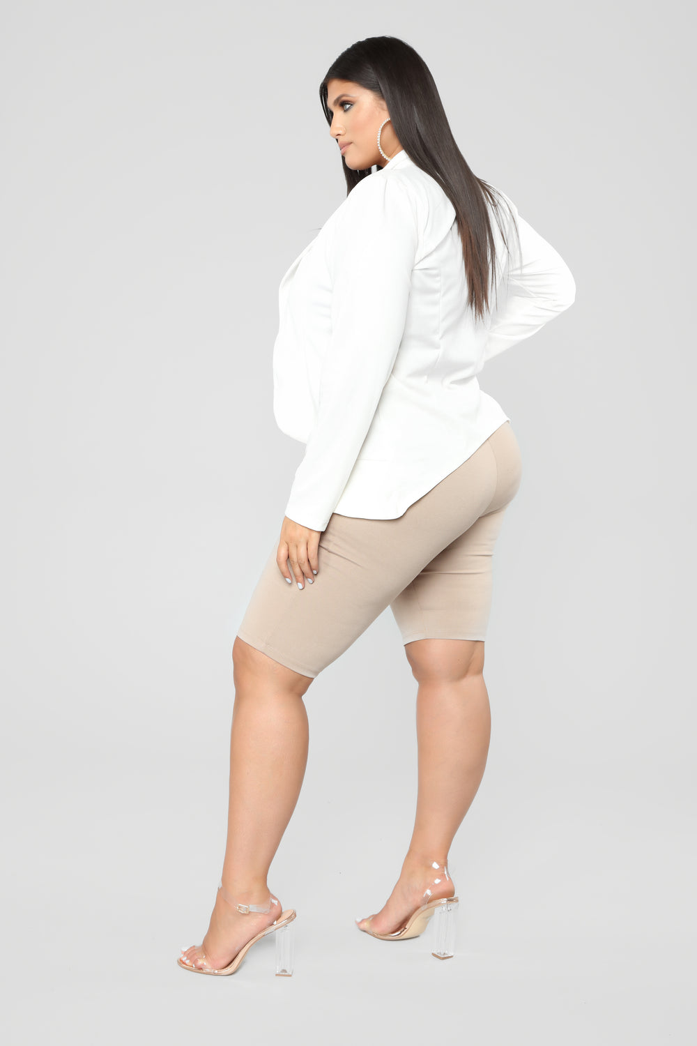 None Of Yo Business Draped Blazer - Ivory