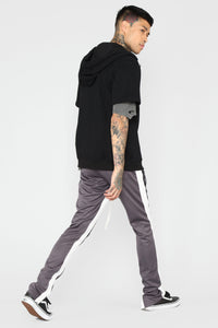 Barry Short Sleeve Hoodie - Black