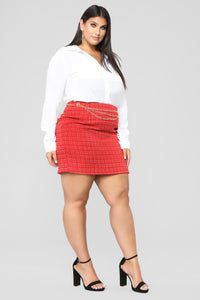 She's A Lady Chain Skirt - Red Angle 9