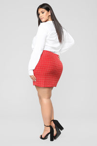 She's A Lady Chain Skirt - Red Angle 10