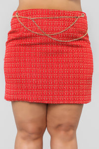 She's A Lady Chain Skirt - Red Angle 8
