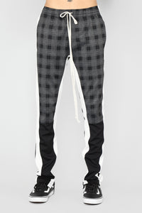 Concord Track Pants - Black/White