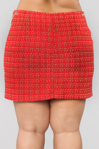 She's A Lady Chain Skirt - Red Angle 12