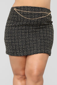 She's A Lady Chain Skirt - Black