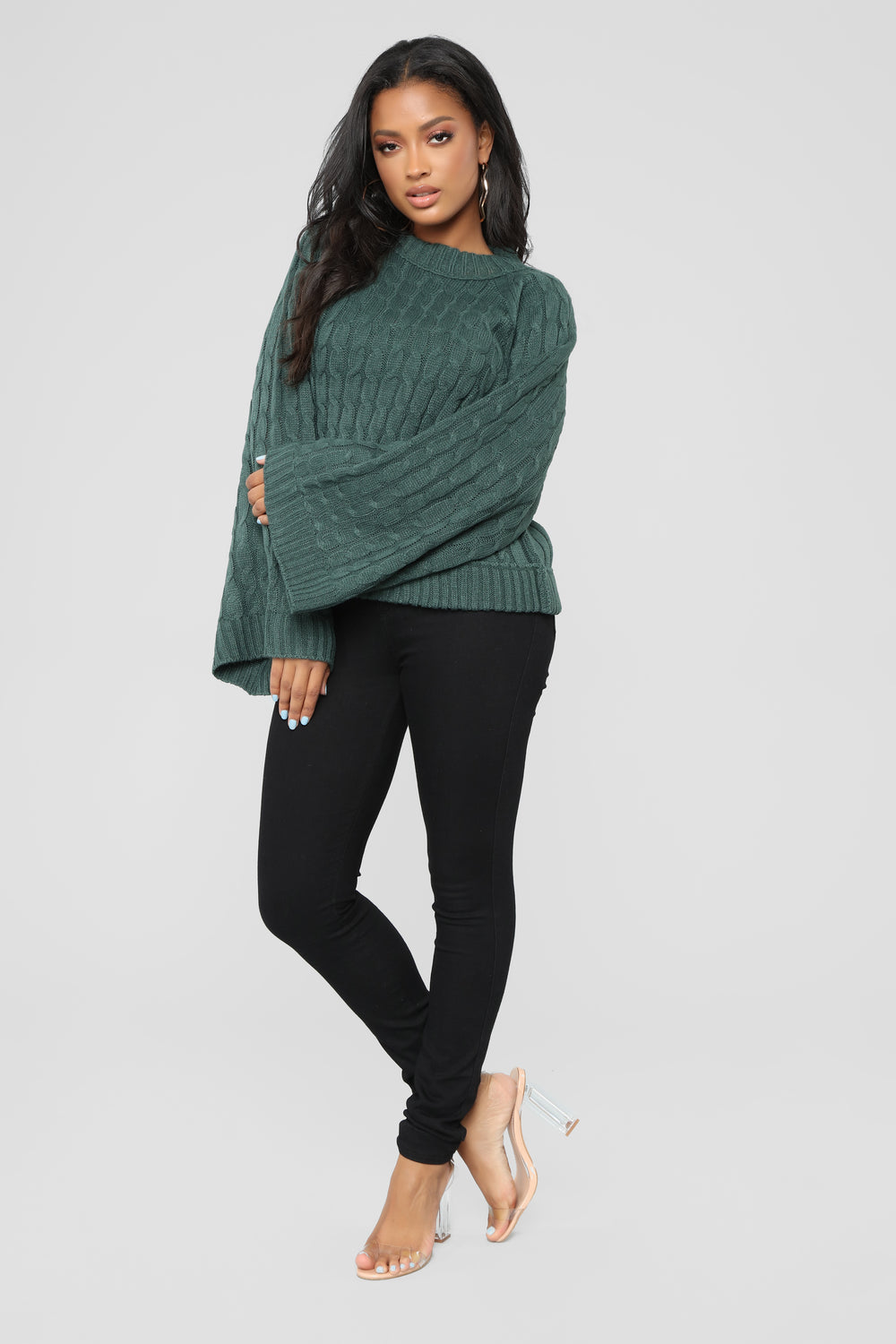 Cardi Cable Knit Sweater