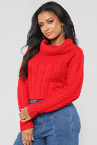 My Hands Are Tied Sweater - Red