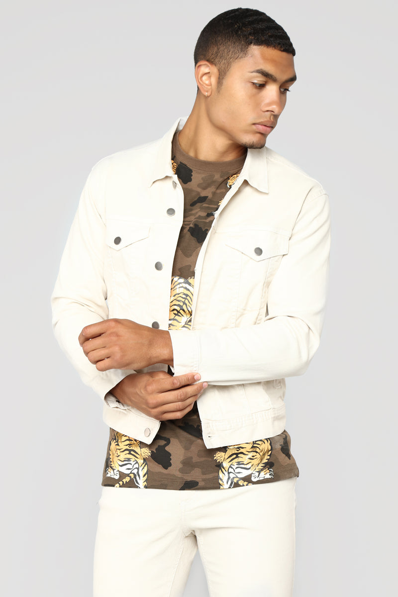 Marko Denim Jacket - Cream