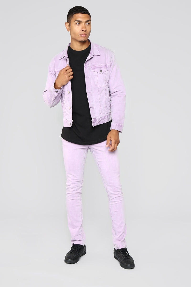Marko Denim Jacket - Purple