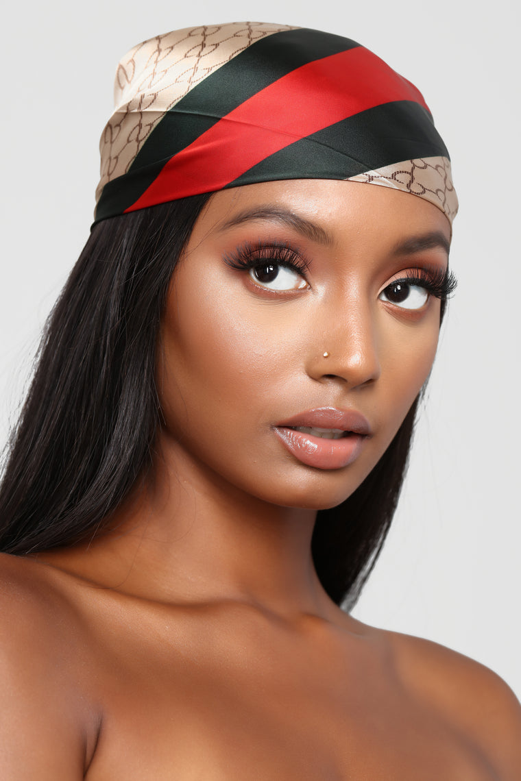 Print This Out Head Scarf - Beige
