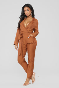 Whateva Your Heart Desires Jumpsuit - Hazelnut