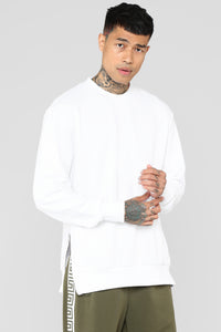 Forbes Crew Neck Sweatshirt - White