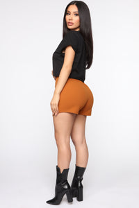 Business In The Front Skort - Camel Angle 5