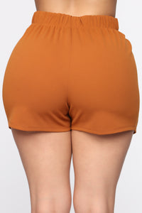 Business In The Front Skort - Camel Angle 6