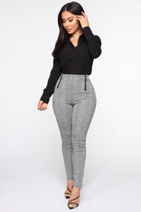 Make It A Double High Rise Pants - Black/White