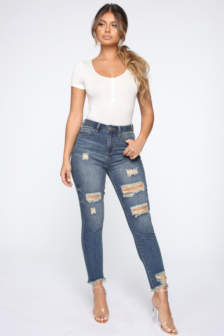 Essential Button Up Bodysuit - White