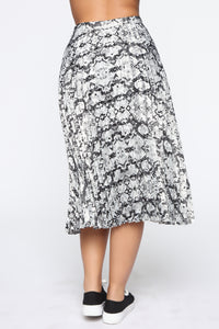 Pleat It Yourself Midi Skirt - Snake
