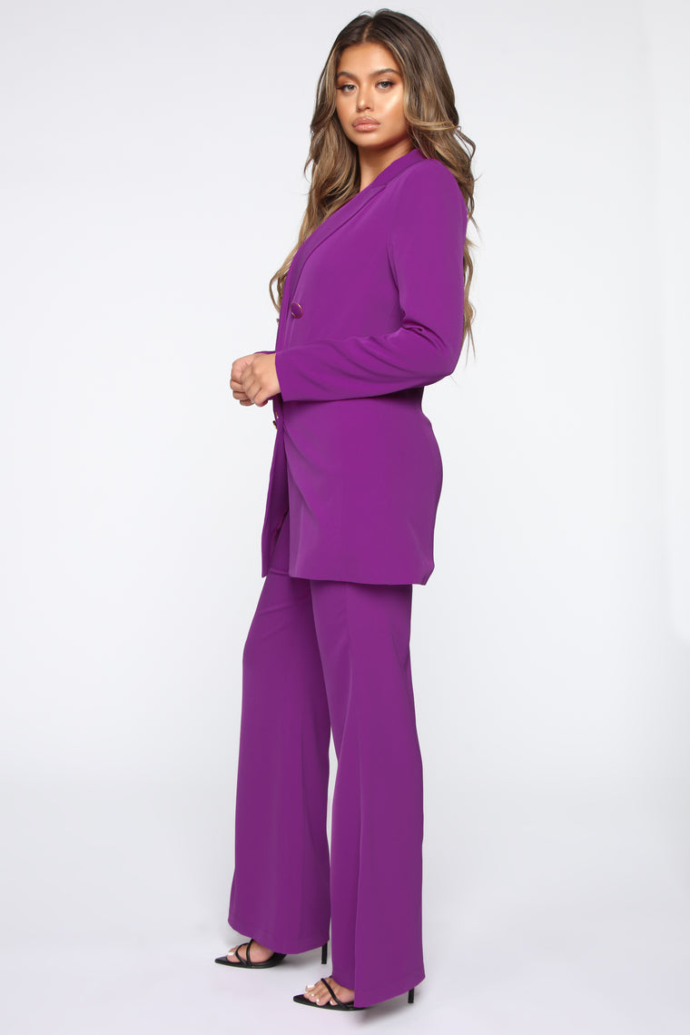 Young CEO Pant Set - Magenta