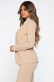 Payin' It Back Blazer Set - Taupe