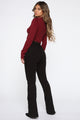 How To Love Me Cut Out Sweater - Burgundy