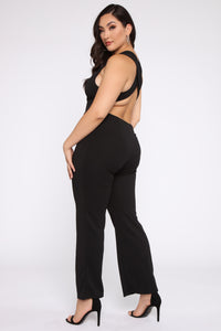 Goodness My Heart Jumpsuit - Black