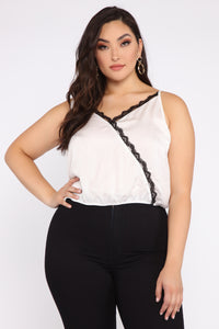 Had It Coming Lace Cami - White Angle 6