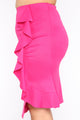 Busy For You Ruffle Skirt - Fuchsia