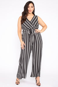Day To Night Jumpsuit - Black/White Angle 1