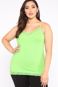 Pillow Talk Tank - Lime