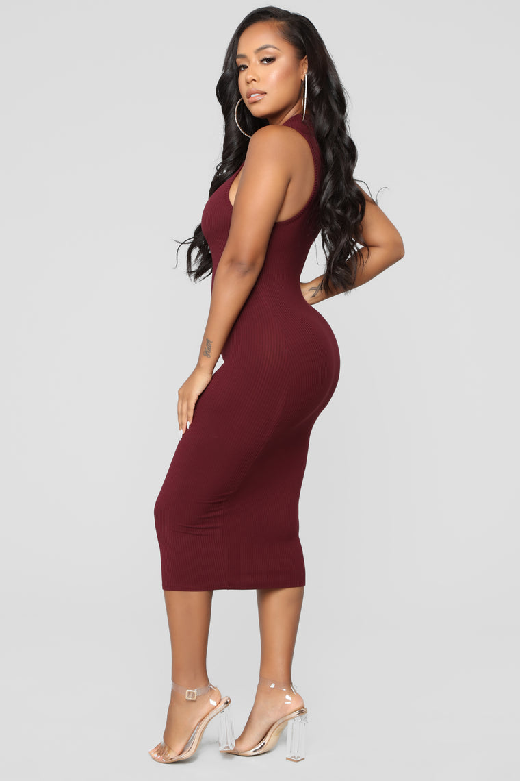 Raising The Bar Dress - Burgundy