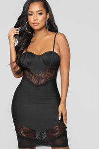 No Stoppin' Desire Bandage Dress - Black Angle 2