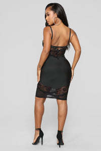 No Stoppin' Desire Bandage Dress - Black Angle 4